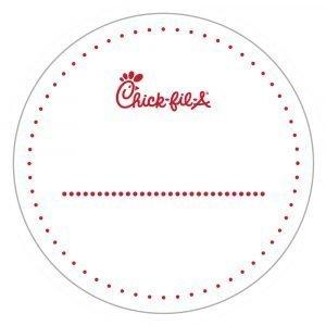 3 x 3 circle labels