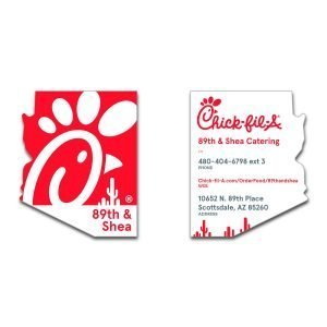 chick fil a business cards